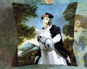 Christmas Gifts White Shepherd Art Pillow    Dog Lover  by Nobility Dogs Arts