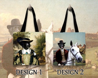 Christmas Gifts Large Munsterlander Dog Art Tote Bag  Gift for Her by Nobility Dogs Arts by Nobility Dogs Arts