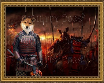 Shiba inu Art Print Canvas Dog Lover Gifts Nobility Dogs