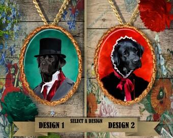 Black Labrador Retriever Jewelry Handmade Gifts by Nobility Dogs