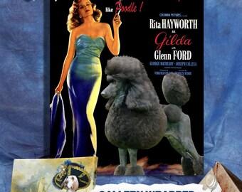 Standard Poodle Art Print Gilda Movie Poster