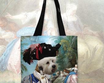Dandie Dinmont Terrier Art Tote Bag  by Nobility Dogs Arts
