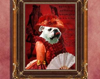 English Bulldog Print Art Print 11 x 14 inch original illustration artwork giclee archival premium poster print