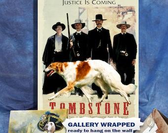 Tombstone Western Movie Poster Borzoi Dog Art