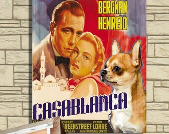 Chihuahua Vintage Movie Style Poster Canvas Print