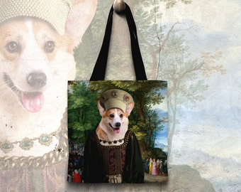 Welsh Corgi Tote Bag   by Nobility Dogs Arts