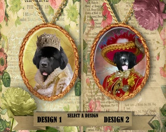 Newfoundland Jewelry, Personalized Pet Gifts, Custom Dog Pendant by Nobility Dogs