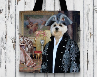 West Highland White Terrier Art Tote Bag  by Nobility Dogs Arts