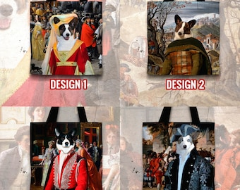 Christmas Gifts Corgi Art Tote Bag  Cardigan Welsh Corgi Gifts for Her by Nobility Dogs Arts