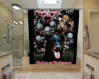 Beauceron Art Shower Curtain, Dog Shower Curtains, Bathroom Decor - WildCats Movie Poster  Perfect CHRISTMAS Gift SALE 25 off Free Shipping