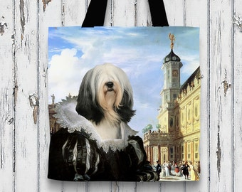 Tibetan Terrier Art Tote Bag   Perfect DOG LOVER Gift for Her Gift for Him