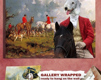 Bedlington Terrier Art Canvas Print Dog Lover  Gifts by Nobility Dogs
