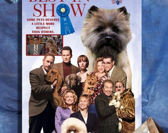 Cairn Terrier Art Best in Show Movie Poster by Nobility Dogs