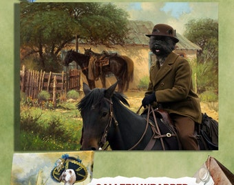 Cairn Terrier Art Canvas Print Dog Lover  Gifts by Nobility Dogs