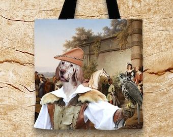 English Setter Tote Bag   by Nobility Dogs Arts