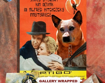 Australian Cattle Dog Art Vertigo Vintage Movie  Poster by Nobility Dogs