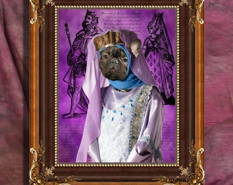 French Bulldog Art Print 11 x 14 inch original illustration artwork giclee archival premium poster print By Nobility Dogs