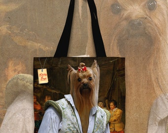 Yorkshire Terrier Art Tote Bag  by Nobility Dogs Arts