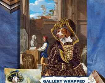 Brittany Spaniel Dog Art Canvas Print Dog Lover Gifts by Nobility Dogs