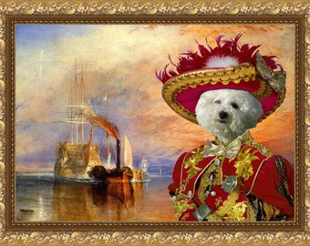 Bichon Frise Art Canvas Print Dog Lover  Gifts by Nobility Dogs