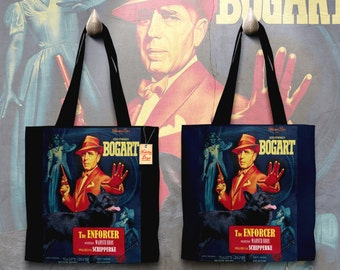Schipperke Art Tote Bag   The Enforcer Movie Poster by Nobility Dogs