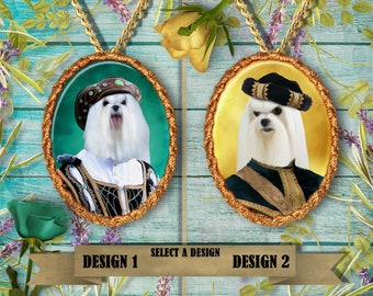 Maltese Dog Jewelry Pendant by Nobility Dogs