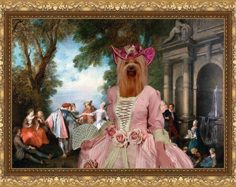 Yorkshire Terrier Art Canvas Print Yorkie Dog Lover  Gifts by Nobility Dogs