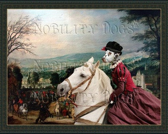 Dalmatian Art Print Canvas Dog Lover  Gifts by Nobility Dog