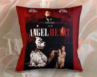 English Setter Art Pillow    Angel Heart Movie Poster   by Nobility Dogs
