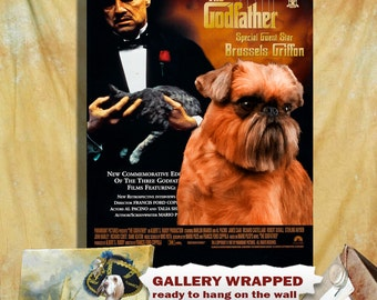 Brussels Griffon Art The Godfather Movie Poster