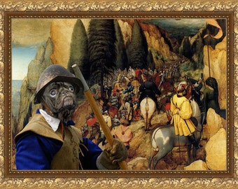Pug Art Print Canvas Dog Lover  Gifts by Nobility Dog