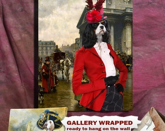 Cavalier King Charles Spaniel Art Print Canvas Dog Lover  Gifts by Nobility Dog