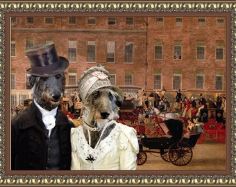 Scottish Deerhound Art Canvas Print Dog Lover  Gifts by Nobility Dogs