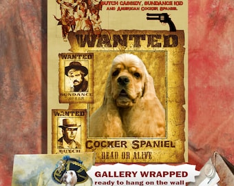 American Cocker Spaniel Art Butch Cassidy and the Sundance Kid
