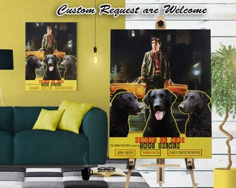 Curly Coated Retriever Art Taxi Driver Movie Poster