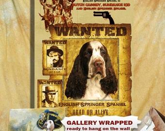 English Springer Spaniel Art Vintage Butch Cassidy and the Sundance Kid