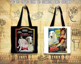 Borzoi Tote Bag Russian Wolfhound Borzoi Portrait Borzoi Art Custom Dog Portrait Movie Poster Anna Karenine Some Like It Hot