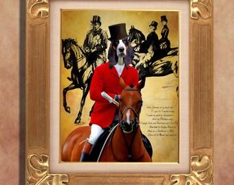 Basset Hound Print Art Print 11 x 14 inch original illustration artwork giclee archival premium poster print By Nobility Dogs