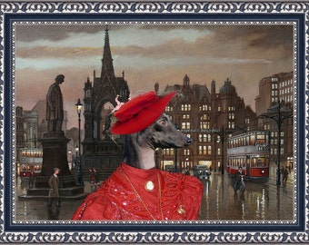 Italian Greyhound Art Canvas Print Dog Lover  Gifts by Nobility Dogs