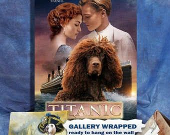 Irish Water Spaniel Art Titanic Movie Poster
