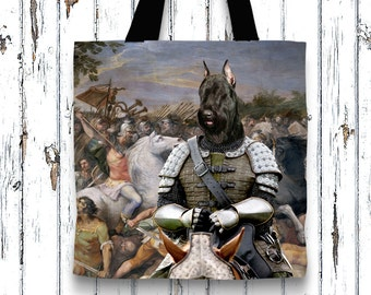 Giant Schnauzer Tote Bag  by Nobility Dogs Arts