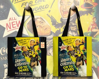 Collie Smooth Art Tote Bag   Abbott and Costello Movie Poster by Nobility Dogs