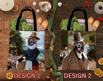 Christmas Gifts Leonberger Dog Art Tote Bag  by Nobility Dogs Arts