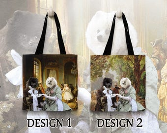 Pomeranian Tote Bag   Personalized Tote Bag   by Nobility Dogs Arts