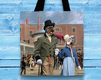 Pumi Art Tote Bag   Perfect DOG LOVER Gift for Her Gift for Him