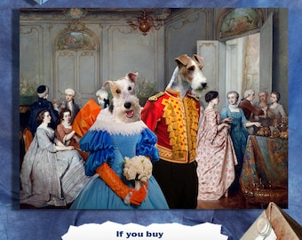 Wire Fox Terrier Art Canvas Print Dog Lover  Gifts by Nobility Dogs