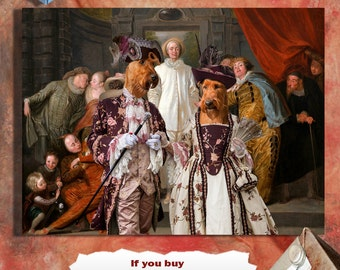 Irish Terrier Art CANVAS Print Dog Lover  Gifts by Nobility Dogs