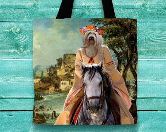 Tibetan Terrier Art Tote Bag    by Nobility Dogs Arts