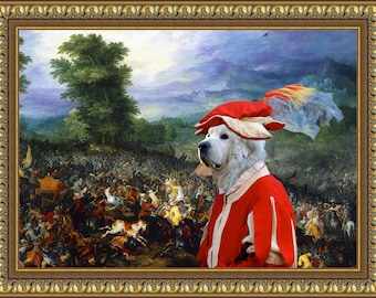 Great Pyrenees Art Canvas Print Dog Lover  Gifts by Nobility Dogs