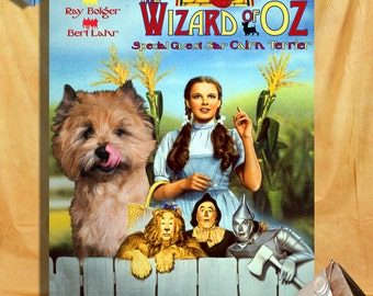 Cairn Terrier Art The Wizard of Oz  Vintage Movie Poster
